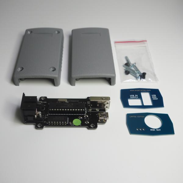 Immagine del Convertitore MIDI USB DIN & Scheda Host USB - Dispositivo MIDI - PCB con Alloggiamento